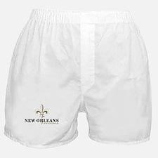 New Orleans, Louisiana gold Boxer Shorts