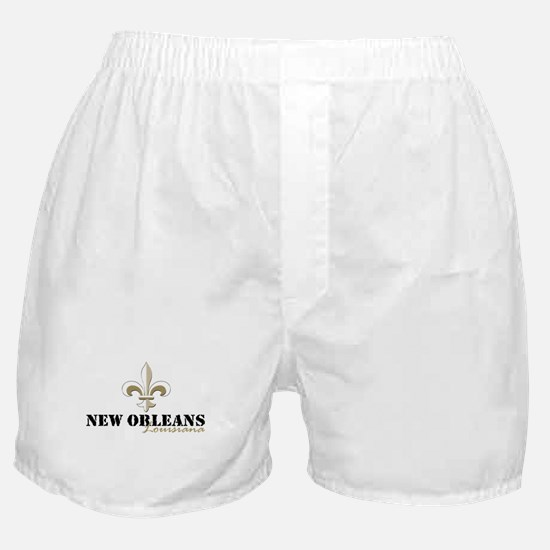 New Orleans, Louisiana gold Boxer Shorts