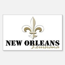 New Orleans, Louisiana gold Decal