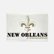 New Orleans, Louisiana gold Rectangle Magnet (10 p
