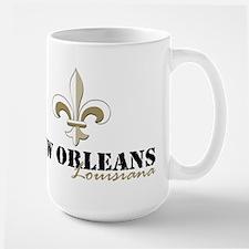 New Orleans, Louisiana gold Large Mug