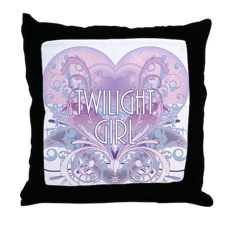 Twilight Girl Fancy Heart Throw Pillow