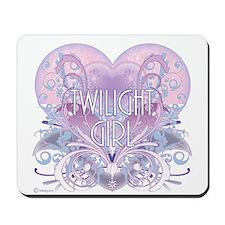 Twilight Girl Fancy Heart Mousepad