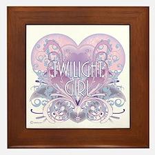 Twilight Girl Fancy Heart Framed Tile