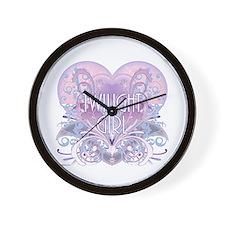 Twilight Girl Fancy Heart Wall Clock