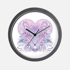 Twilight Girl Fancy Heart Wall Clock