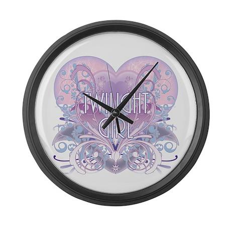 Twilight Girl Fancy Heart Large Wall Clock