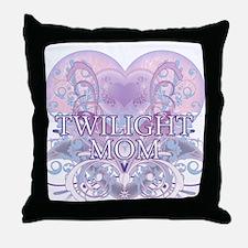 Twilight Mom Fancy Heart Throw Pillow