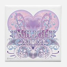 Twilight Mom Fancy Heart Tile Coaster