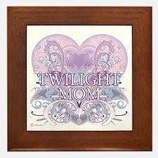 Twilight Mom Fancy Heart Framed Tile