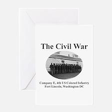 Civil War Infantry Greeting Card