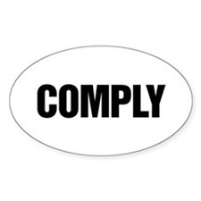 COMPLY Oval Decal