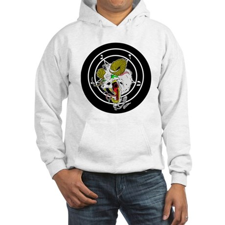 Crazy Sigil of Baphomet Hooded Sweatshirt