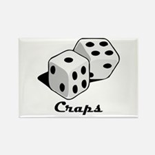 Craps Rectangle Magnet