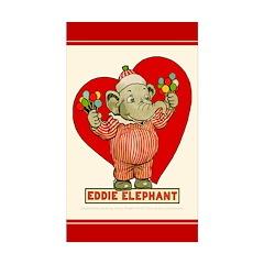 LOVE Eddie Elephant Rectangle Sticker 50 pk)