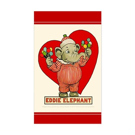 LOVE Eddie Elephant Rectangle Sticker