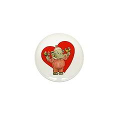 LOVE Eddie Elephant Mini Button (10 pack)