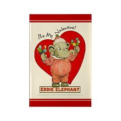 Eddie Elephant VALENTINE Rectangle Magnet