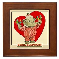 LOVE Eddie Elephant Framed Tile