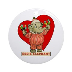 LOVE Eddie Elephant Ornament (Round)