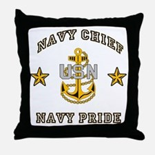 Navy Chief, Navy Pride Throw Pillow