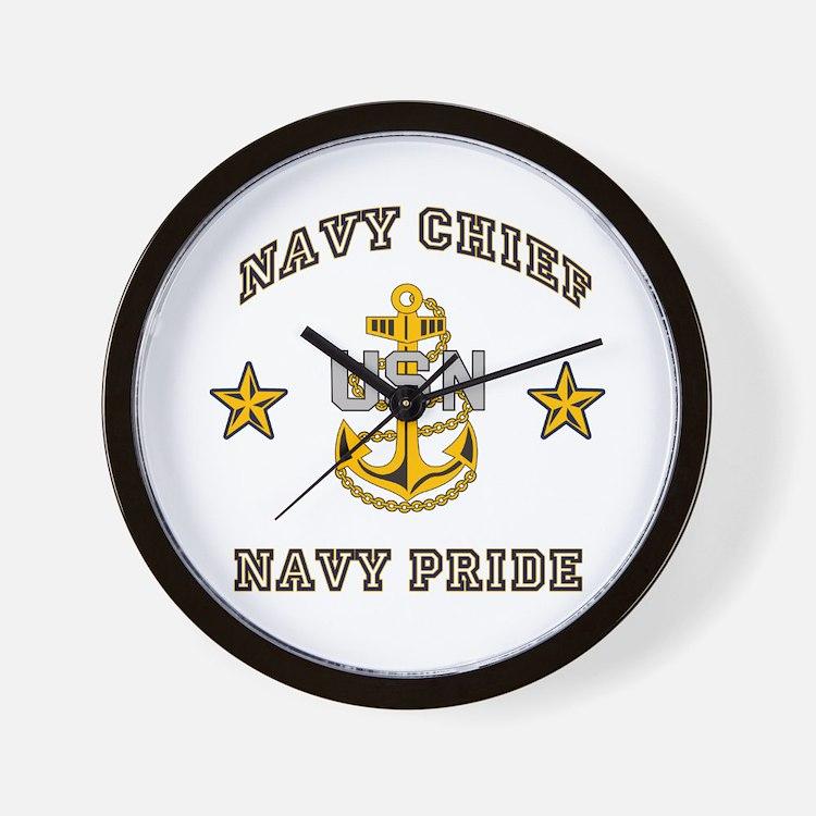 Navy Chief, Navy Pride Wall Clock