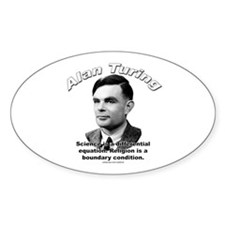 Alan Turing 01 Oval Decal