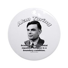 Alan Turing 01 Ornament (Round)