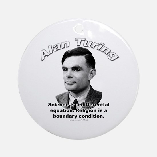 Alan Turing 01 Ornament (Round)