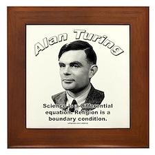 Alan Turing 01 Framed Tile