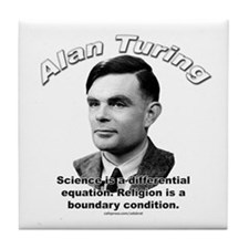 Alan Turing 01 Tile Coaster