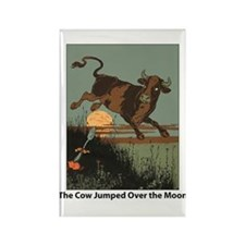 Cow Jump Rectangle Magnet