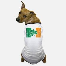 Irish Flag Shamrock Dog T-Shirt
