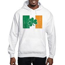 Irish Flag Shamrock Hoodie