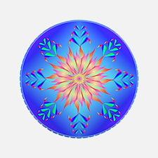 "Flowers mandala 3.5"" Button (100 pack)"