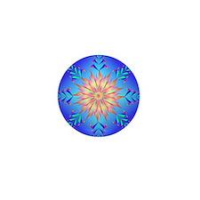Flowers mandala Mini Button