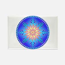 Flowers mandala Rectangle Magnet (10 pack)