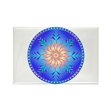 Flowers mandala Rectangle Magnet