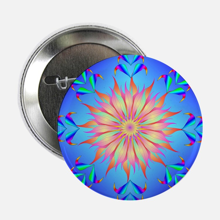"Flowers mandala 2.25"" Button (100 pack)"
