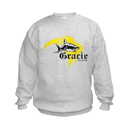Gracie Jiu-Jitsu 5 WHT Kids Sweatshirt