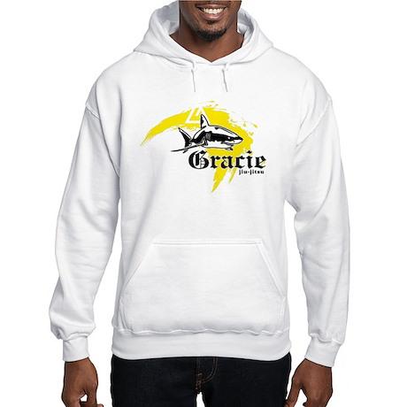 Gracie Jiu-Jitsu 5 WHT Hooded Sweatshirt
