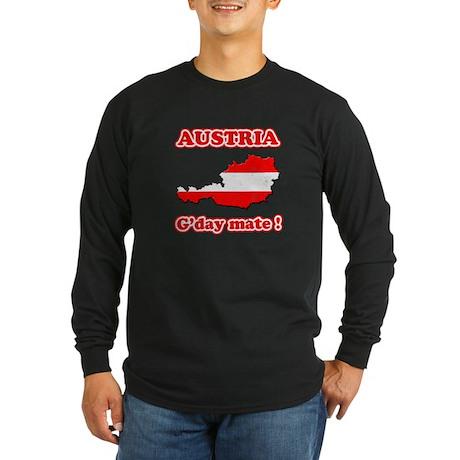 Austria - g'day mate Long Sleeve Dark T-Shirt