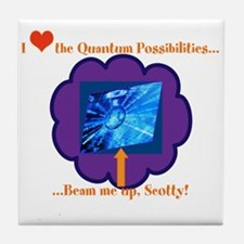 Quantum Mechanics Humor Tile Coaster