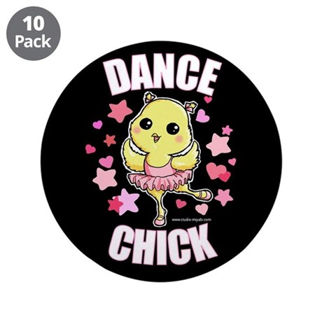 """DANCE CHICK 3.5"""" Button (10 pack)"""