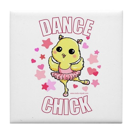 DANCE CHICK Tile Coaster