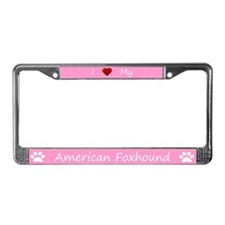 Pink I Love My American Foxhound Frame