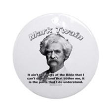 Mark Twain 02 Ornament (Round)