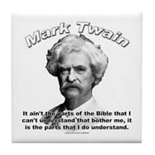 Mark Twain 02 Tile Coaster