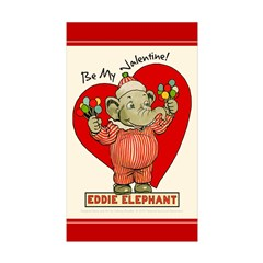 Eddie Elephant VALENTINE Rectangle Sticker 10 pk)