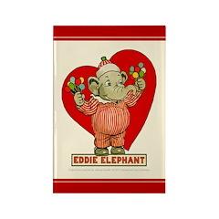 LOVE Eddie Elephant Rectangle Magnet (100 pack)